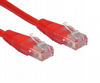Short 0.2m Patch Leads  - 20cm Network Cable / CAT5e / Red